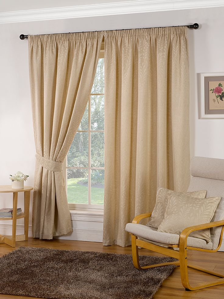 Marlborough Natural Pencil Pleat Curtains