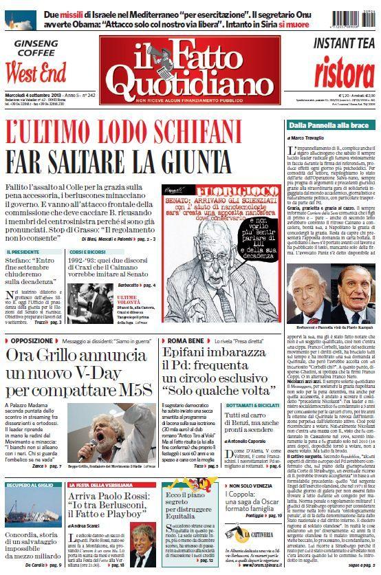 Il Fatto Quotidiano (04-09-13)Italian | True PDF | 24 pages | 10,19 Mb