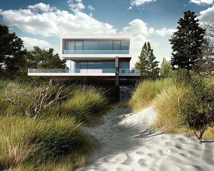 Making of Baltic Sea House... Focus on Grass and Sand by Piotr Wolowski.