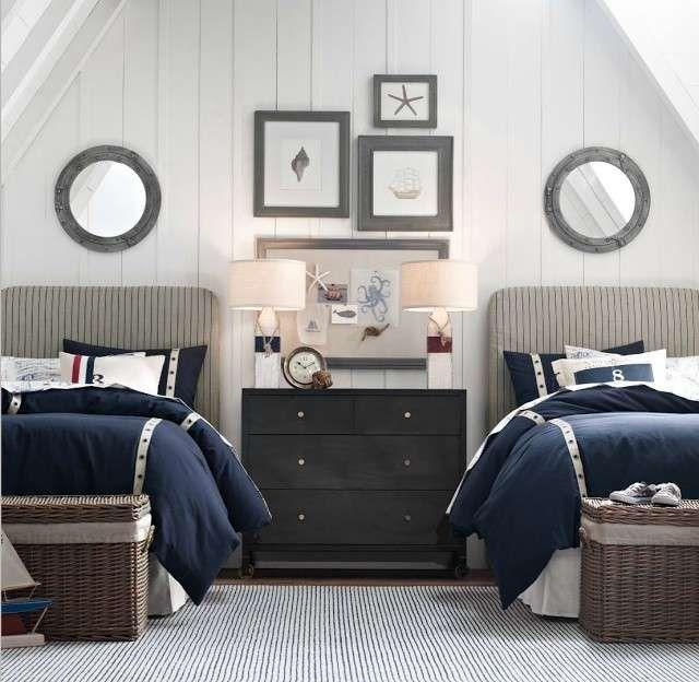 Camera per bambini in stile marine - Camera da letto stile marina per i più piccoli.