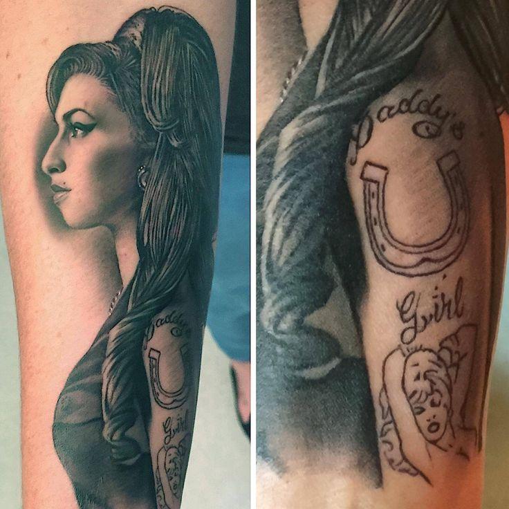 My Amy Winehouse portrait tattoo