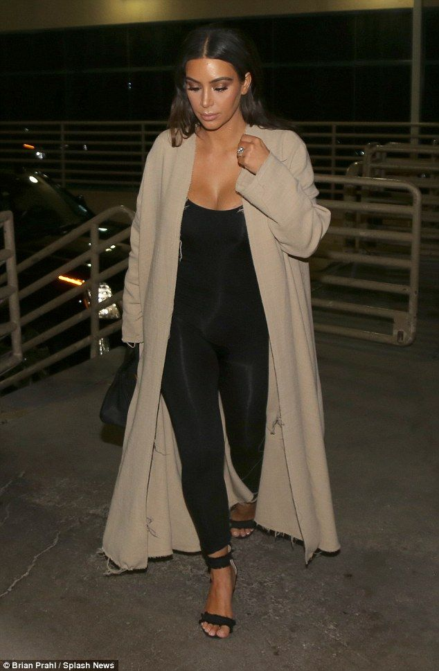 Style queen: Kim Kardashian reigned supreme on Friday evening as she arrived in Las Vegas