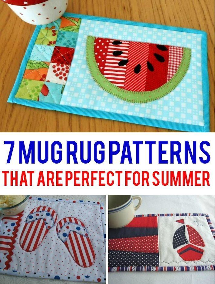 Weekend Warriors: 7 Summer Mug Rugs