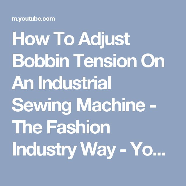how to adjust tension on sewing machine bobbin