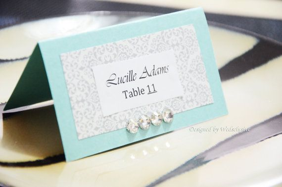 Tiffany blue place cards wedding place cards DIY PROJECT Ideas