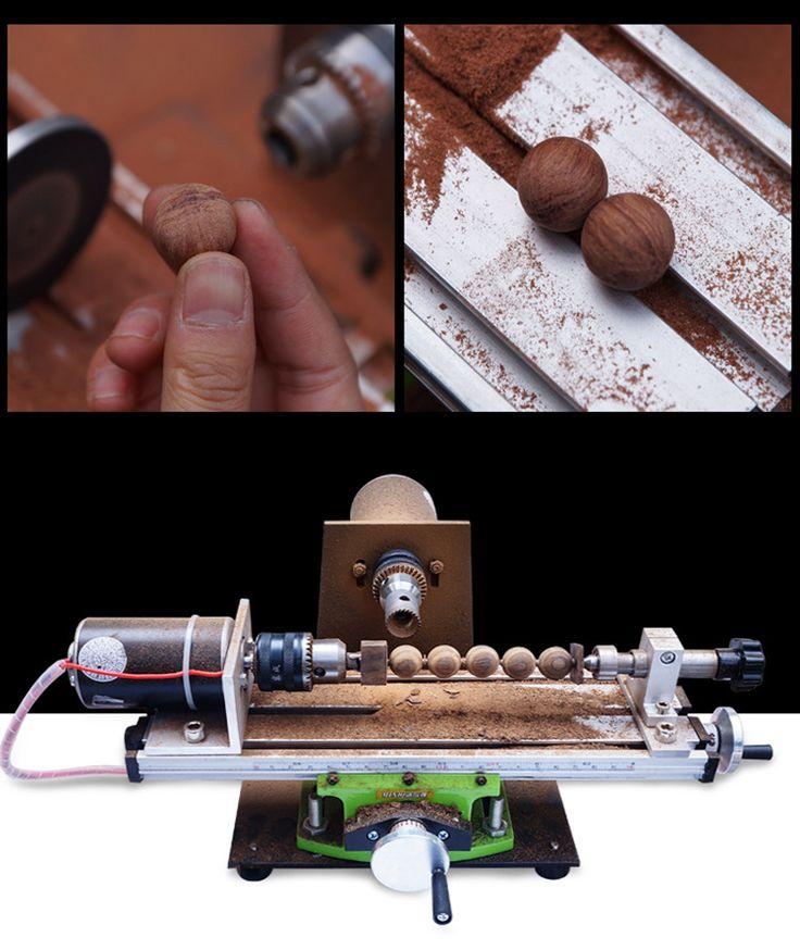 Raitool Mini tornillos de 220V de la máquina del torno de la máquina DIY Perlas de madera WWood que trabajan la máquina herramientas