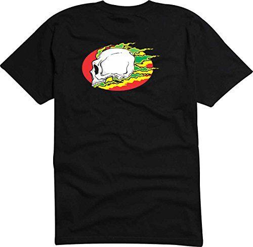 T-Shirt - Camiseta D809 Hombre negro con la impresión en color M - diseño Tribal cómico / abstracto gráfico / cráneo calavera punk con iroqués im puesta del sol #camiseta #starwars #marvel #gift
