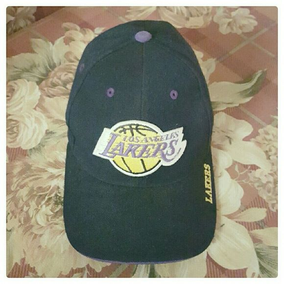 LA LAKERS CAP LA LAKERS CAP!  Was fondly worn. Some staining at the brim. Accessories Hats