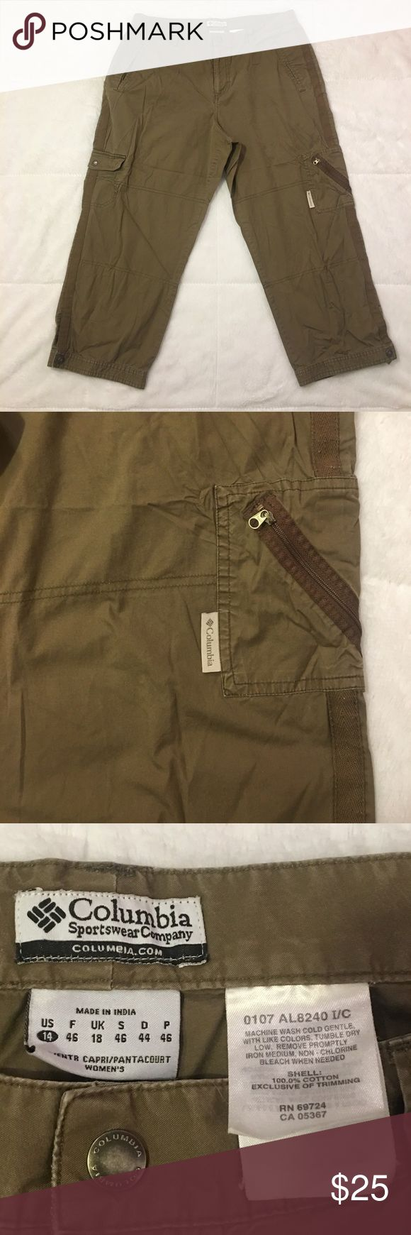 Columbia Sportswear Women's Outdoor Capri Pants Columbia Sportswear Outdoor Capri Pants. Women's Size 14. Great Spring & Summer Outdoors Pants. Lightly Worn. In Great Condition. Columbia Pants Capris