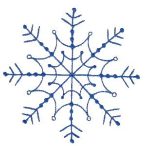 Snowflakes 5 single machine embroidery design for instant download.