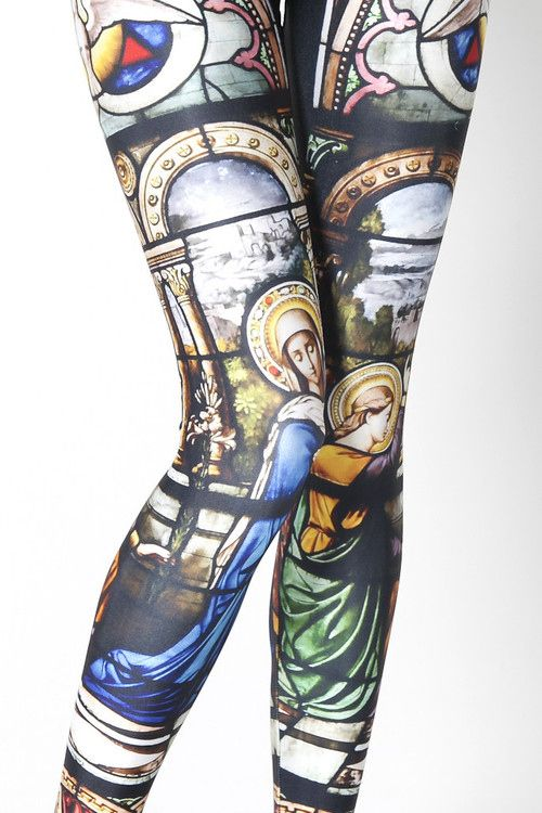 Fabulous Art History Leggings.   The good news is that my thighs are so huge, you'd be able to see the entire panorama of this work of art.