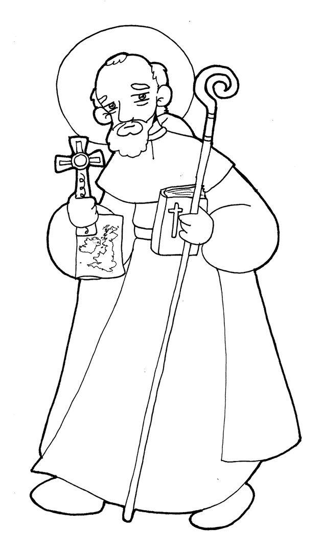 San Columba De Iona Para Pintar Manualidades Educativas Dibujos Para Colorear Manualidades