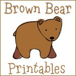 Brown Bear Printables 2---- coolest free printables, I printed them on construction paper so they are touch and can be handled by my 3 year old!