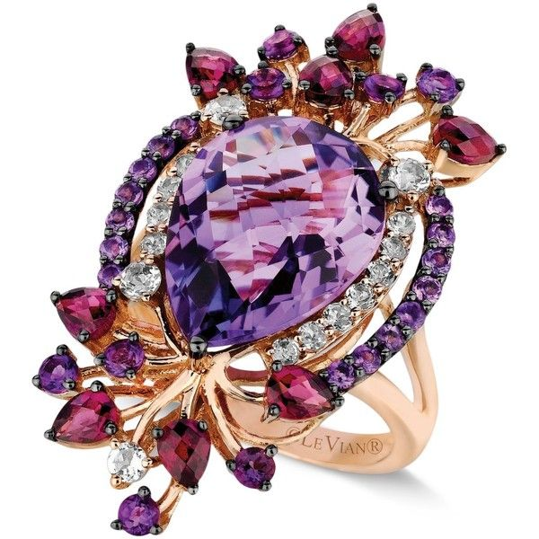 Le Vian Multistone Ring in 14k Rose Gold (8 ct. t.w.) ($1,829) ❤ liked on Polyvore
