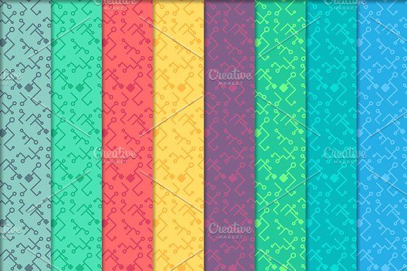 High Tech Seamless Print Patterns by barsrsind on @creativemarket