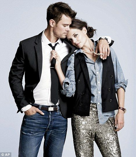 Model pose: Josh Duhamel and Katie Holmes pose for the J Crew autumn collection