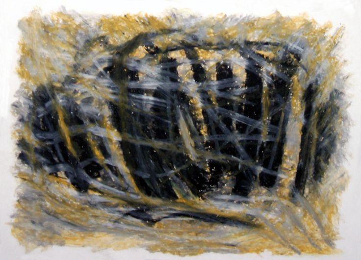"""""""Eclissi lunare II"""" 2009 Pastelli ad olio su cartoncino 24x33 ©Pietro Gargano"""
