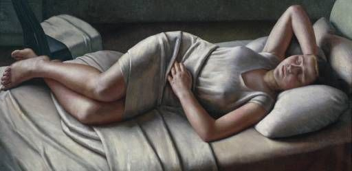 Dod Procter,  Morning, (1926).  Oil on canvas