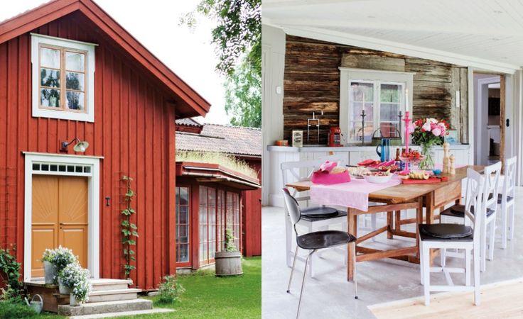 Ett 1700-talshus i Hälsingland blev Hanna och Jacobs drömhem. Växbo Lins ägare lever ett aktivt byliv med tre barn i ett hus fullt av vackra gamla taklister och väggtryck. Läs mer på www.lantliv.com #växbolin #hantverk