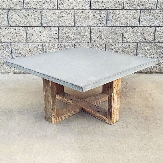 Reclaimed Polished Wood Coffee Table: 192 Best Images About Concrete Tables On Pinterest