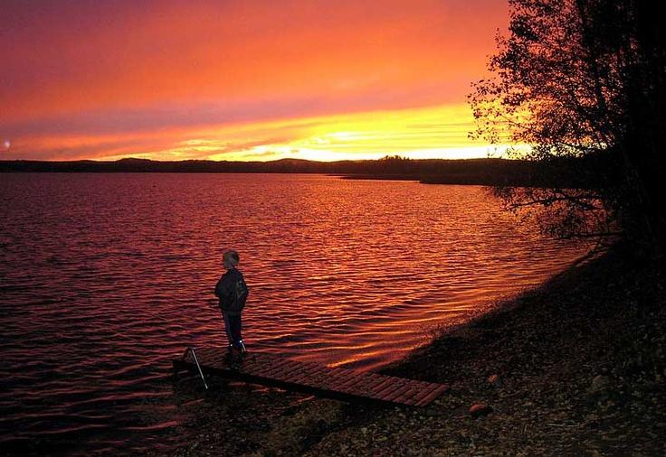 The Midnight sun. #Finland #Midnight #sun #Aurinkoranta