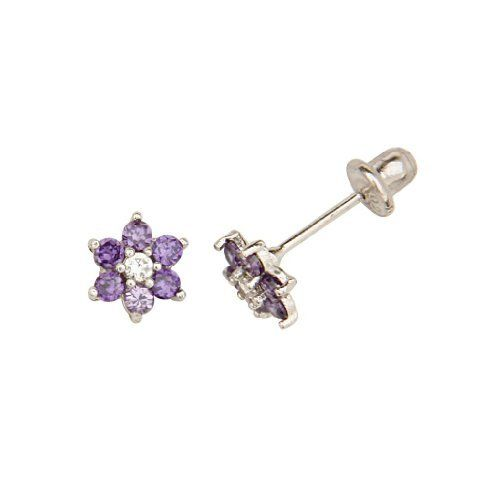 .925 Sterling Silver Rhodium Plated CZ February Amethyst Birthstone Basket Stud Earrings with Screw-Back for Children & Women (Amethyst, Purple) The World Jewelry Center. Save 71 Off!. $17.95. Rhodium coated for more shine.. From our exclusive Shimmering Collection, this item showcases the finest Sterling Silver available today!. Promptly Packaged with Free Gift Box and Gift Bag. Screw Back. Special manufacturing process held to ensure less wear and tarnish
