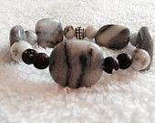 Women's  marble lava rock essential oil diffuser bracelet.