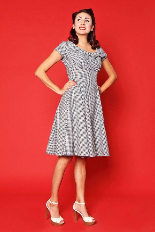 Beverly Dress - Black Gingham - Heart of Haute - 1