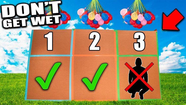 DO NOT GET WET!! 📦💦 Box Fort Water Balloon Challenge