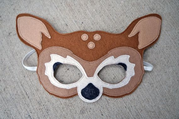 Felt Fawn Mask / Felt Deer Mask / Heirloom Quality Animal Mask