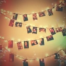 String words together and then hang them on a wall - How to hang string lights in bedroom ...