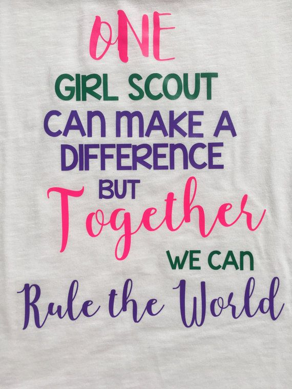 One Girl Scout Shirt Girl Scout Leading by FancyFashionStudio