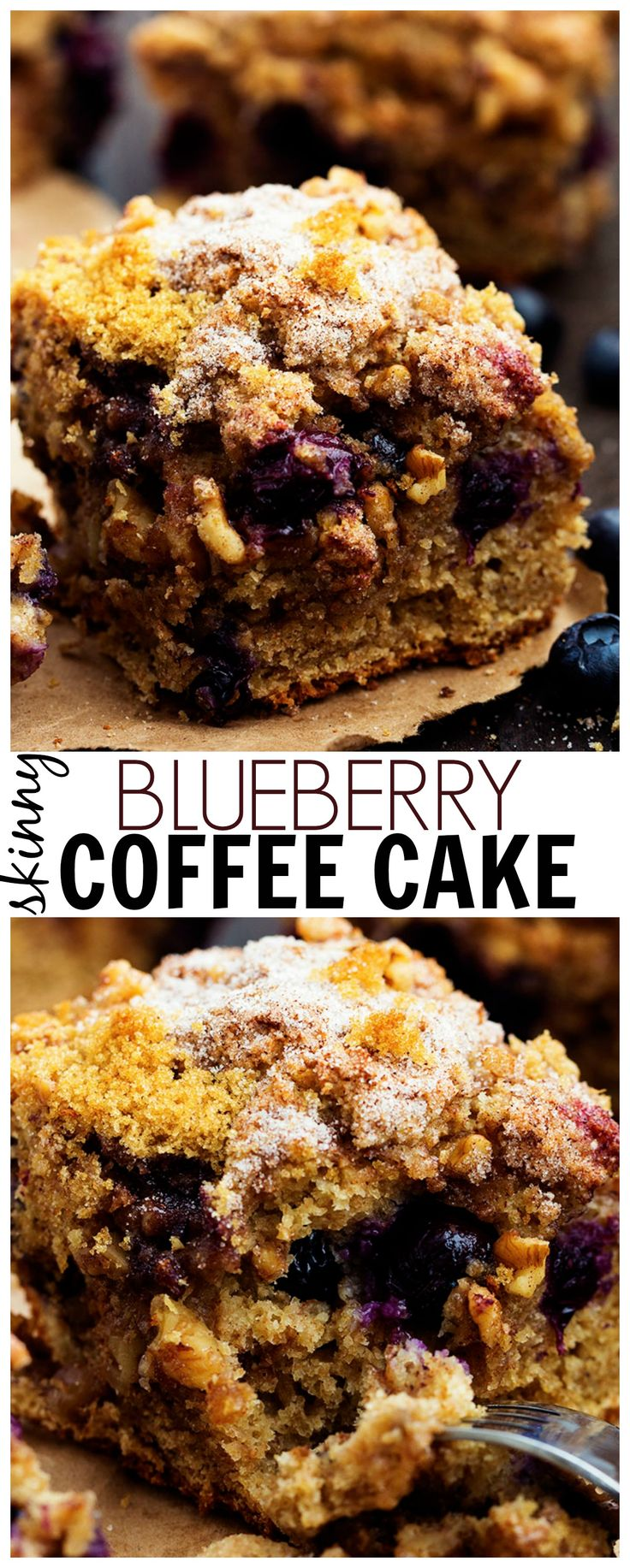 This Blueberry Coffee Cake is perfectly moist and crumbly and bursting with fresh blueberries!