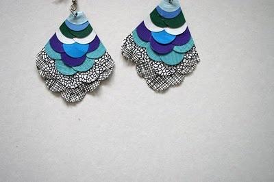 Paper earrings by Esther Ramirez