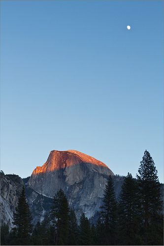 Half Dome and Moon by LifeInFineArt  http://lifeinfineartblog.blogspot.com.au/2014/04/when-you-learn-who-you-are-when-you.html