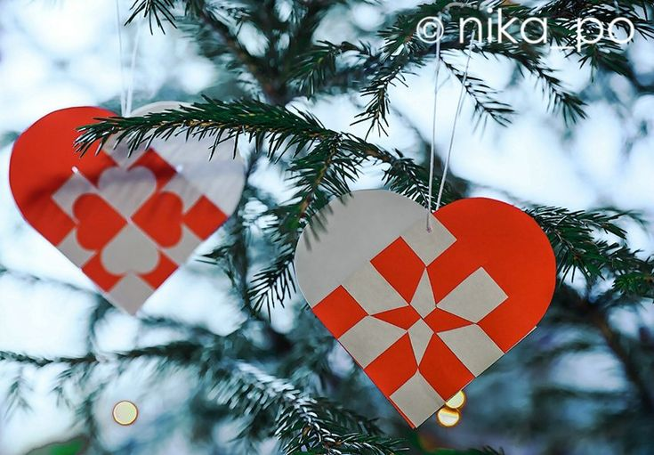 Датские бумажные сердца