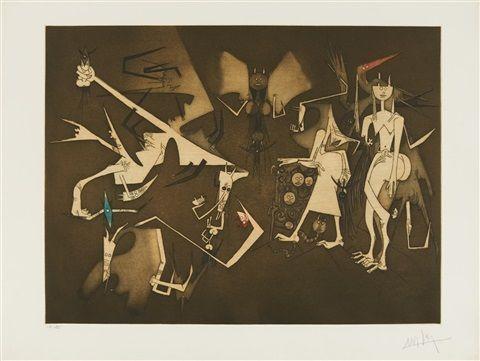 Wifredo Lam (Cuban, 1902–1982) Title: ANNONCIATION , ca. 1969–1971 Medium: color aquatints Size: 49 x 65 cm. (19.3 x 25.6 in.)