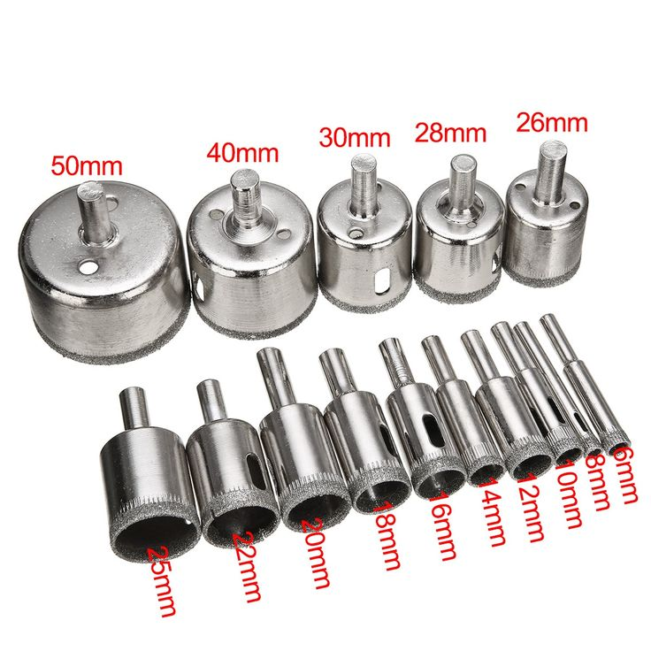 Diamond Hole Drill Bits 15 Pcs Smooth Accurate Holes