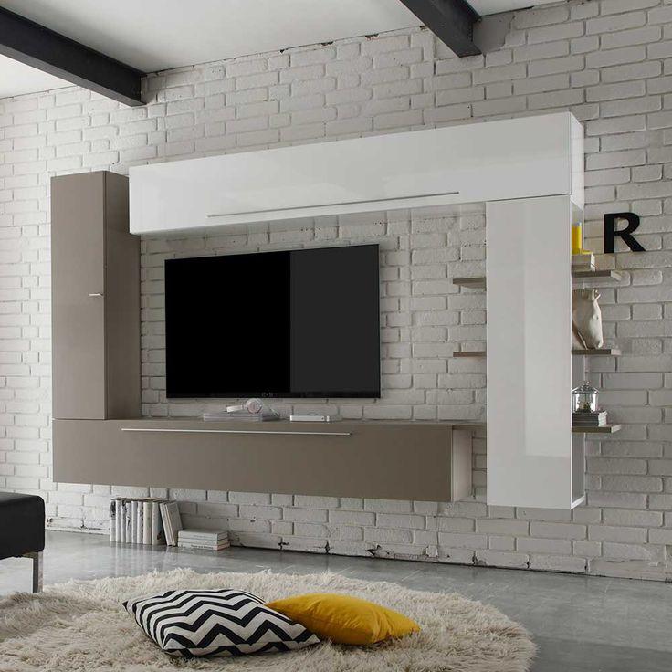 Die besten 25+ Tv board hängend Ideen auf Pinterest Tv wand - wohnzimmer braun beige modern