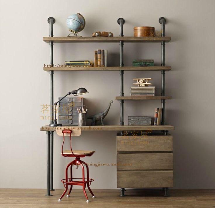 acheter am ricains r tro loft la tuyauterie d 39 eau bois couche s parateur tag re. Black Bedroom Furniture Sets. Home Design Ideas