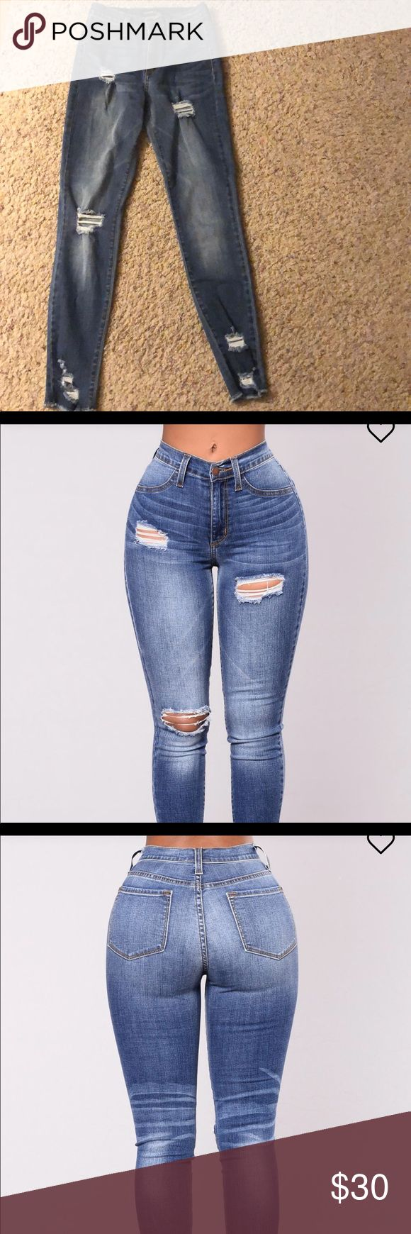 Fashion Nova jeans new with tags Fashion Nova jeans new with tags attached. Size 3. Perfect never used. Super cute . I added the pics from the website because the lighting in my photos didn't show true color. Fashion Nova Jeans