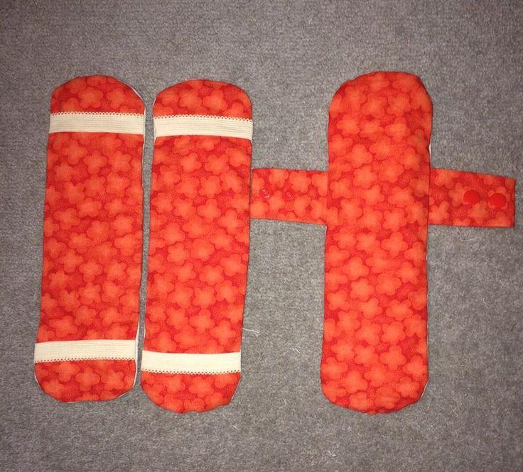 Handmade Reusable Cloth Fabric Period Menstrual Sanitary 3 Pads Set . (L)  | eBay