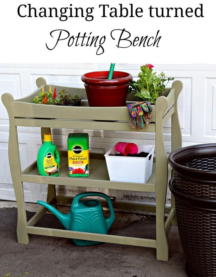 Changing Table to Potting Bench