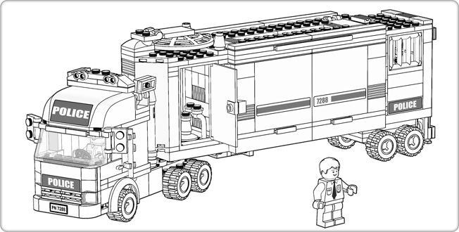 LEGO.com City : Downloads - Coloring Pages - Police Truck