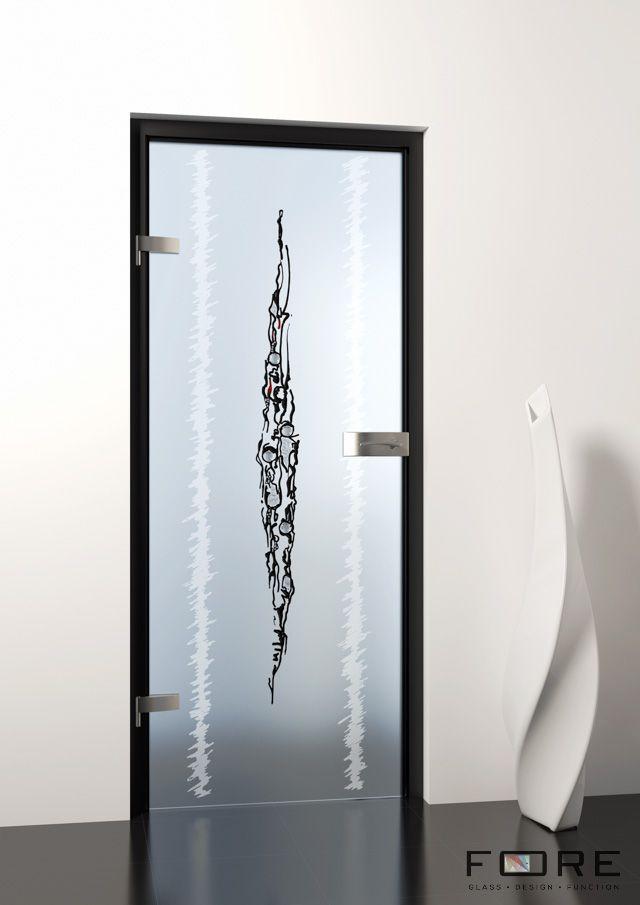 Drzwi szklane Supermodified na ościeżnicy z okuciami Deluxe i klamką Dune www.fore-glass.com, #drzwiszklane #drzwiwewnetrzne #szklane #glassdoor #glassdoors #interiordoor #glass #fore #foreglass #wnetrza #architektura