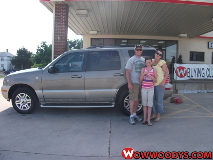 """Skyler and Ashley Ahnefeld from Carrollton, Missouri purchased this 2003 #Mercury #Mountaineer and wrote, """"Great personal service with a smile."""" To view similar vehicles and more, go to http://www.wowwoodys.com/Inventory/view/Make/Mercury/ today!"""