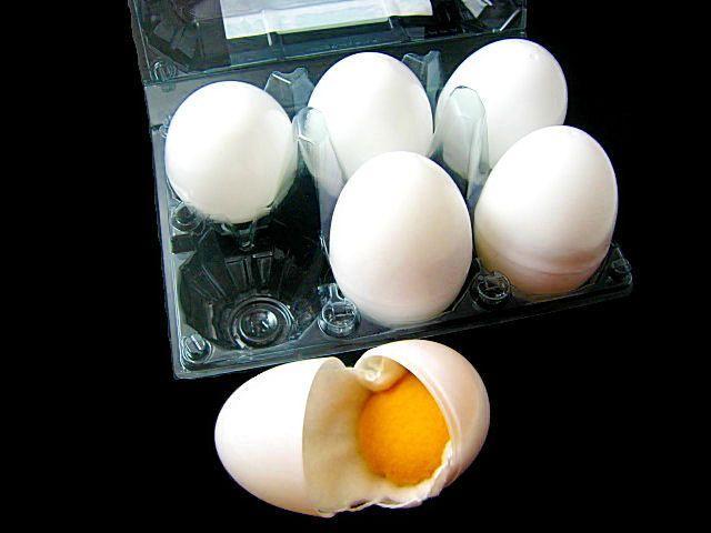 Felt eggs inside of plastic easter eggs - too cute!