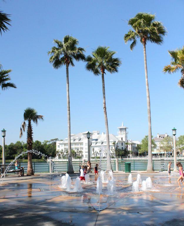 Water Fountain in Celebration, Florida - Disney's town.