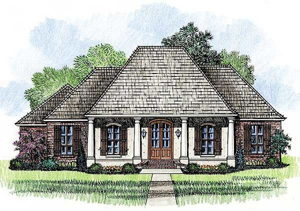 Southern Home Plan with Open Layout - 56349SM | Acadian, European, French Country, Southern, Photo Gallery, 1st Floor Master Suite, Butler Walk-in Pantry, PDF, Corner Lot | Architectural Designs
