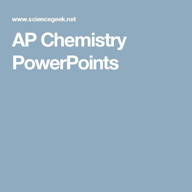 AP Chemistry PowerPoints